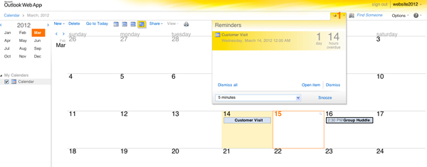 Shared Calendars Online with Microsoft Exchange