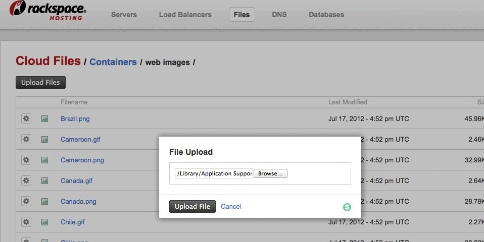 Uploading Files into Containers