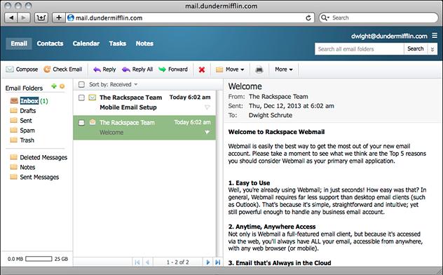 Rackspace Webmail